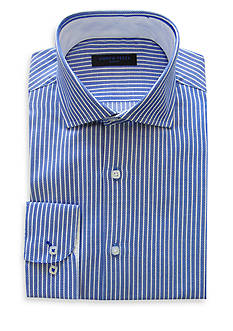 Andrew Fezza Slim-Fit Oxford Striped Dress Shirt