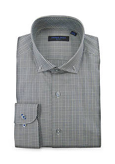 Andrew Fezza Slim Fit Plaid Dress Shirt