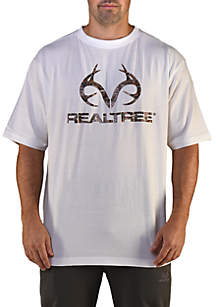Short Sleeve Camo Logo Tee