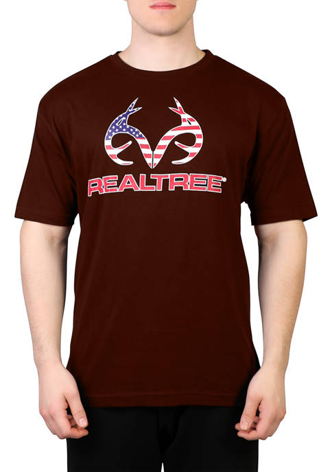 REALTREE® Mens Short Sleeve Americana Graphic T-Shirt