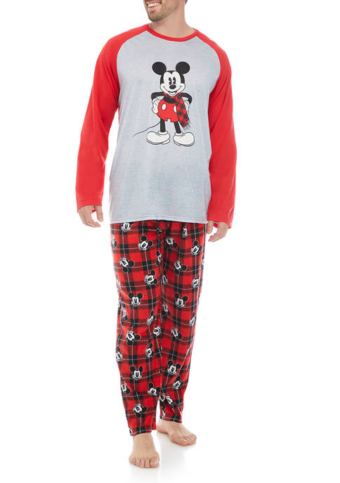 Disney® Mickey Mens Mickey Long Sleeve Pajama Set