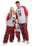 Mickey Mens Plus Family Pajama Set