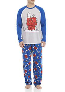 Mens Snoopy 2-Piece Pajama Set