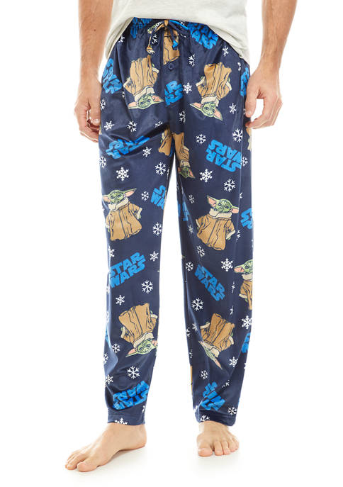 Briefly Stated Baby Yoda Snowflakes Pajama Pants