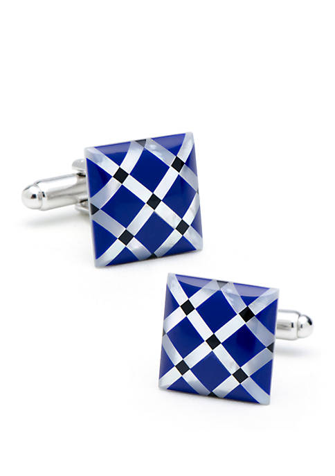 Cufflinks Inc Mother of Pearl Diamond Cufflinks