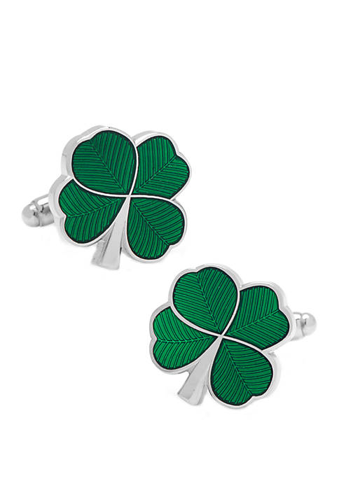 Cufflinks Inc Green Clover Cufflinks
