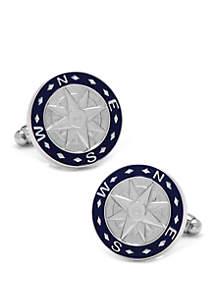 Cufflinks Inc Blue Compass Cufflinks