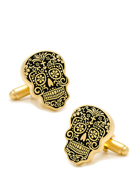 Cufflinks Inc Gold Tone Day of the Dead