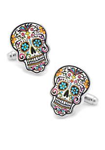 Cufflinks Inc Day of The Dead Skull Cufflinks