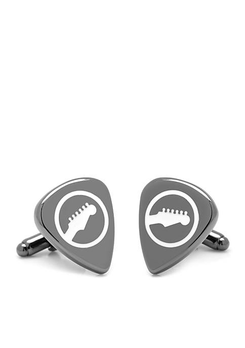 Cufflinks Inc Black Guitar Pick Cufflinks
