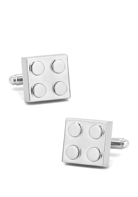 Silver Building Block Cufflinks