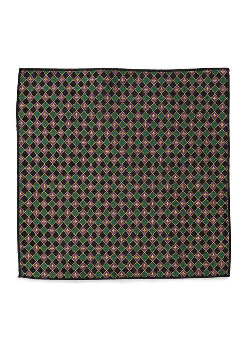 Cufflinks Inc Mardi Gras Argyle Pocket Square