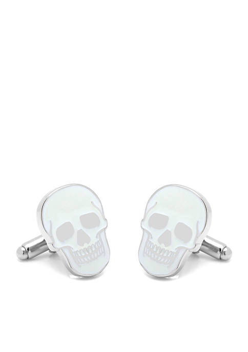 Glow-in-the-Dark Skull Cufflinks