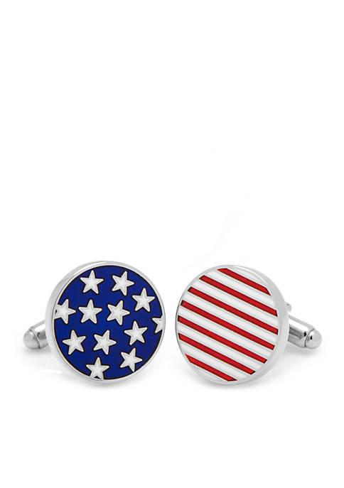 Cufflinks Inc Stars and Stripes American Flag Cufflinks