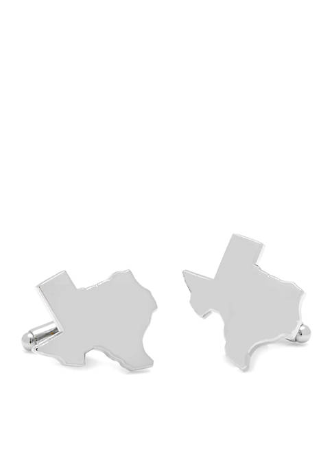 Cufflinks Inc Silver Texas Cufflinks