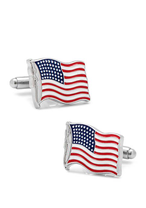 Waving American Flag Cufflinks