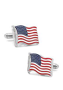 Cufflinks Inc Waving American Flag Cufflinks