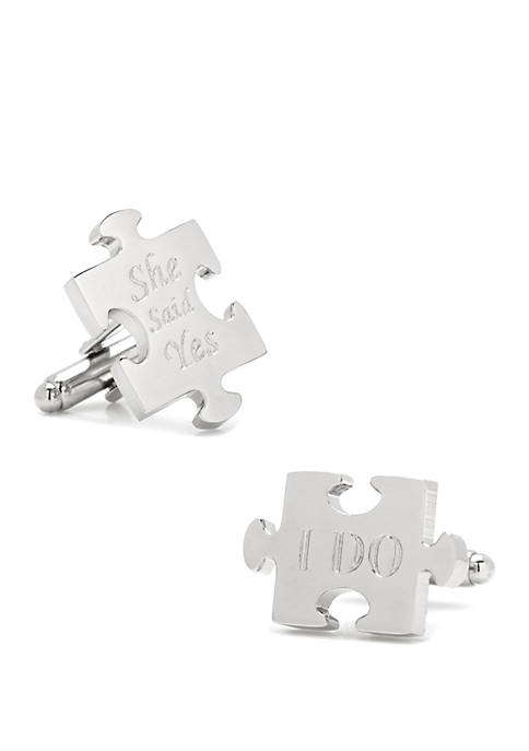 Wedding Puzzle Pieces Cufflinks