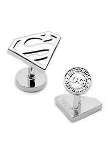 Cufflinks Inc Silver Superman Shield Cufflinks