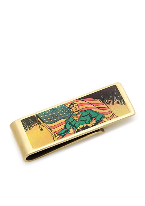 Cufflinks Inc Vintage Patriotic Superman Money Clip