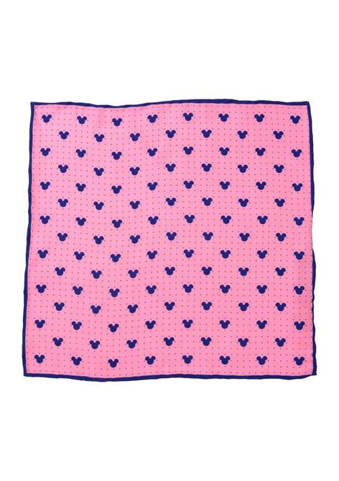 Disney® Mickey Mouse Dot Pink Pocket Square
