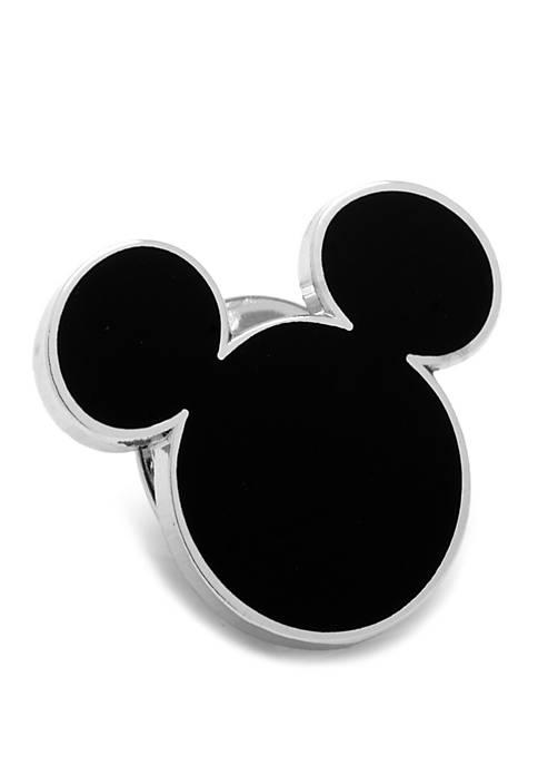Cufflinks Inc Disney© Black Mickey Mouse Silhouette Lapel