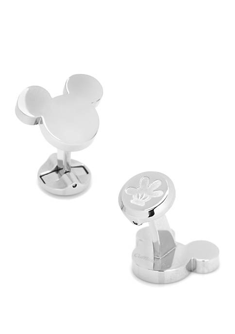 Disney© Stainless Steel Mickey Mouse Silhouette Cufflinks