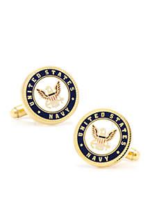 Cufflinks Inc Enamel US Navy Cufflinks