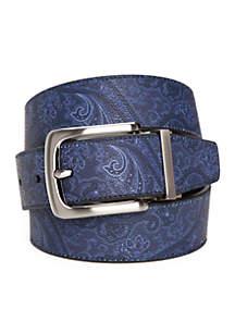 1.38-in. Paisley Print Reversible Belt