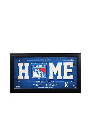 Steiner Sports Nhl New York Rangers Home Sweet Home Sign Framed Belk