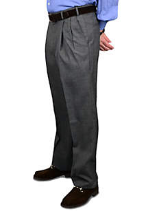 Wool Self Sizer Waistband Trouser