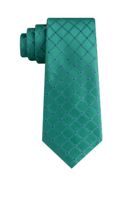 Eagle Marion Grid Silk Woven Tie