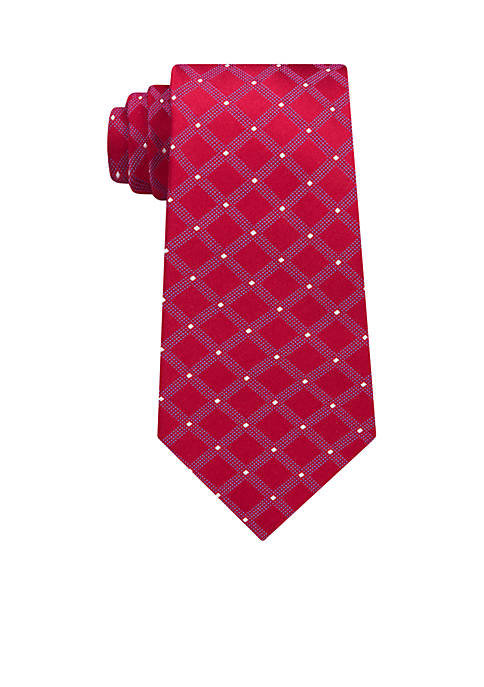 Eagle Dot Grid Neck Tie