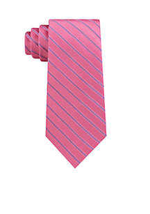 Double Satin Stripe Tie