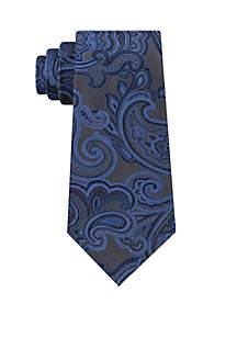 Large Paisley Print Tie