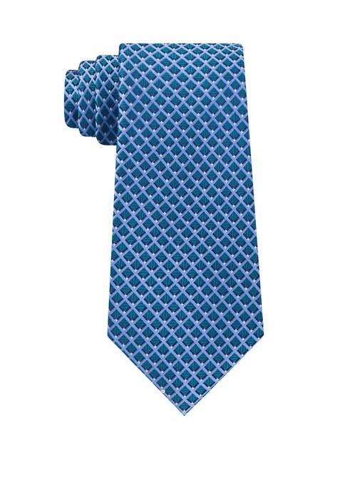 Eagle Mens Pip Mini Grid Necktie