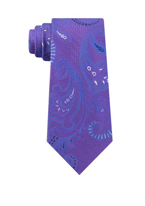 Eagle Mens Tinsel Paisley Necktie