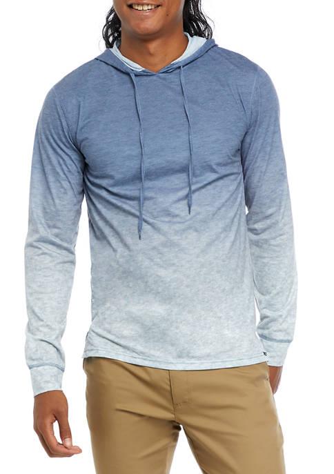 Ombré Hooded Knit T-Shirt