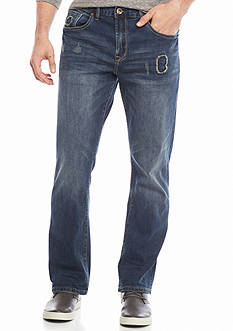 Red Camel® Bootcut Stretch Patched Jeans