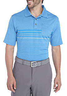 Classic-Fit Geometric Performance Golf Polo Shirt