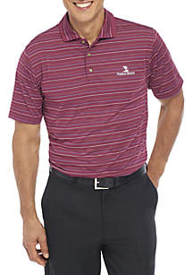 Classic-Fit Striped Jacquard Performance Golf Polo Shirt