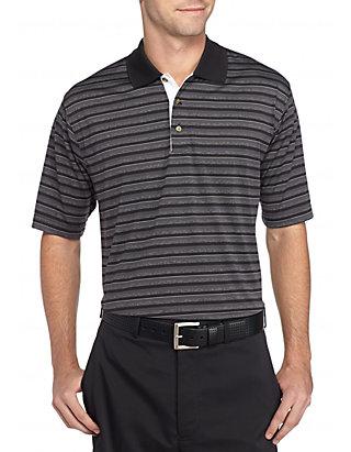 dd3d33365b PEBBLE BEACH™. PEBBLE BEACH™ Classic-Fit Shadow-Striped Performance Golf  Polo Shirt