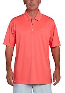 Classic-Fit Textured Performance Golf Polo Shirt