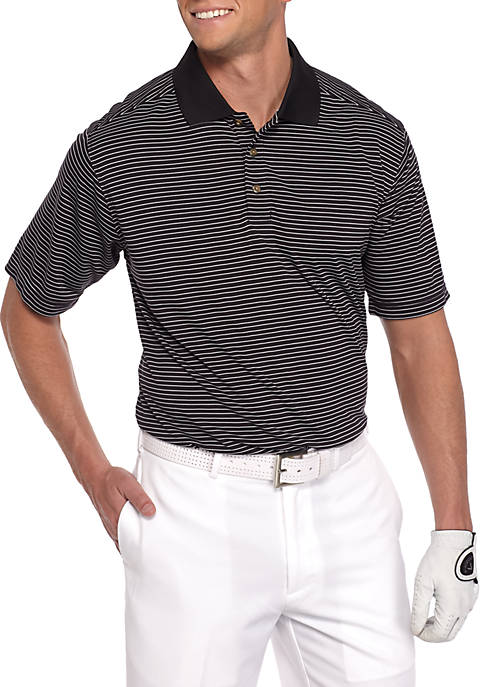 Pebble beach classic fit lodge stripe performance golf for Pebble beach performance golf shirt