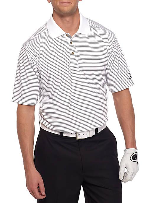 Classic-Fit Lodge Stripe Performance Golf Polo Shirt