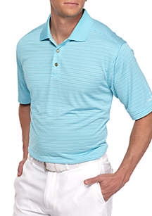 Classic-Fit Lodge Stripe Performance Golf Polo Shirt