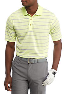 Jersey Stripe Performance Golf Polo Shirt