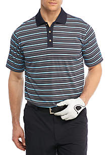 Jersey Stripe Performance Golf Polo Shirt