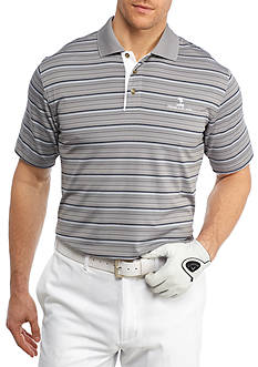PEBBLE BEACH™ Classic-Fit Heather Stripe Performance Polo Shirt