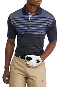 Classic-Fit Stripe Performance Polo Shirt